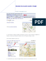 Extração de coordenadas de um ponto usando o Google Maps