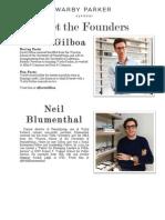 Warby Parker Company Bios