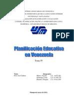 Trabajo Planificaion educativa en venezuela.docx