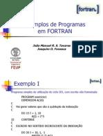 Exemplos de Programas Em Fortran