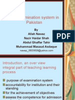 The Examination System in Pakistan