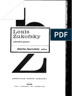 Selected Poems by Louis Zukofsky