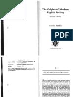 The Origins of Modern English Society by Harold Perkin pt. 1