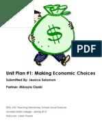 Economics Unit Planner