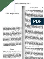 Fairclough's Social Theory of Discourse - Part 1