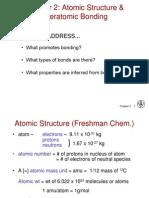 Atomic Bonding-Lecture 1
