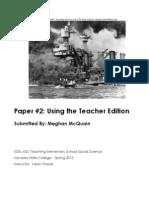 EDEL453 Spring2013 MeghanMCQUAIN TeacherEdition