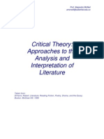 Critical Theory- Approaches to Literary Analysis and Interpretation