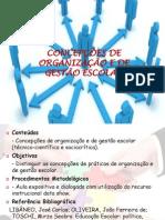 As concepções de Organização e de gestão escolar