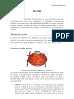 Tiempos & Metodos de Coccion