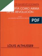 Althusser - La Filosofia Como Arma de La Revolucion