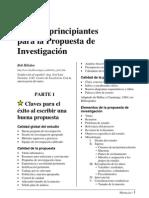 Guía principiantes Propuesta Investigación