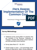 AFT Common Core poll results May 2013