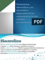 Disoluciones Electrolitos y No Electrolitos