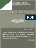 Conciencia. Luis Miguel. Psicopatologia