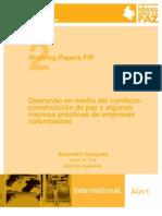 FIPP Operando en Medio Del Conflicto Construccion