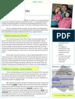 April 2013 Ministry Newsletter
