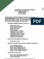 Meeting Minutes of Legislative Commission June 29, 1995