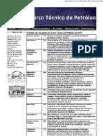 Curso Técnico de Petróleo da UFPR EMENTAS DO CURSO