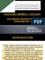 FISIOLOGIA-VOLUMENES RESPIRATORIOS