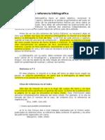 Sistemas de referencia bibliográfica.