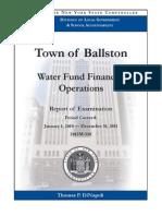 Ballston Water Audit