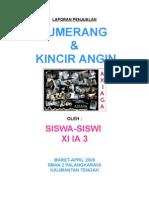 Laporan Penjualan Bumerang & Kincir Angin Xi Ia 3 Maret-April 2009 Sman 2 Palangkaraya