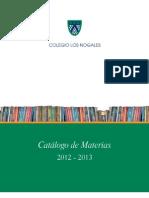 Catálogo de Materias
