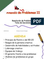 Análisis de Problemas II (toma de decisiones)