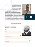 Biografia de Algunos Autores (Literatura)