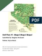 EDEL453 Spring2013 MeghanMCQUAIN Unit 1 Geography PLANNER