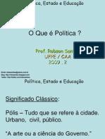o que é politica