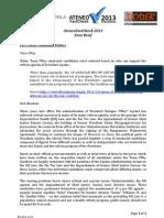 1st Brief Ateneo FactCheck 2013 Project Brief