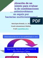 10.Aplicacion de Un Procedimiento Para Evaluar La Eficacia de Combinaciones de Antimicrobianos
