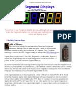 7-Segment Displays Tutorial, LEDs, Sample Circuits