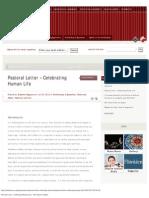 Pastoral Letter – Celebrating Human Life - The Church in Malta