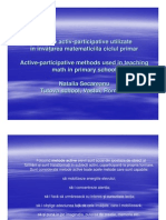 Metode activ- participative la Matematica