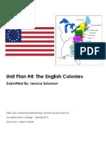 EDEL453 Spring2013 JessicaSOLOMON Unit 4 History PLANNER