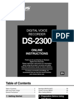 DS 2300 Recorder Manual