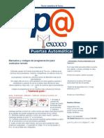 Puertas Automáticas - Puertas Automáticas de Texcoco __ Cercas electricas_ Manuales y códigos de programación para controles remoto