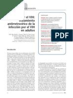 Infección por el VIH. tratamiento antirretrovírico de la infección por el VIH en adultos