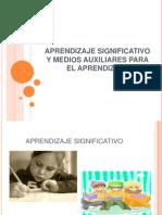 Aprendizaje Significativo y Medios Auxiliares Para El Aprendizaje