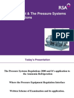 Ammonia Plant & the Pressure Systems Safety Regulations