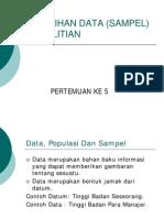 Ekm 2405 Slide Pemilihan Data Sampel Penelitian