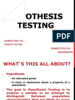 Hypothesis Testing - MR