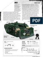 m1180096 Space Marines Datasheet - Land Raider Ares