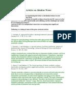 Peer Reviewed Articles on Alkaline Water