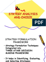Strtegy Analysis and Choice