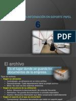 Archivo de la información en soporte papel