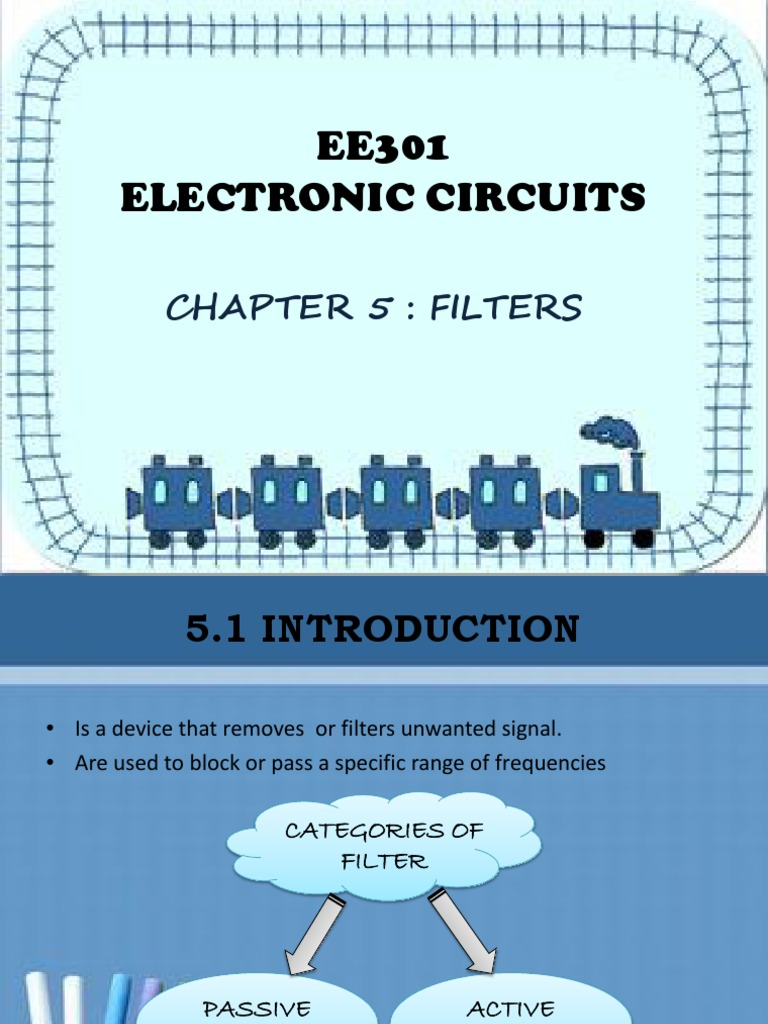Ee301 Electronic Circuit Chapter 5 Filters Filter Secondorder Active Band Stop Low Pass